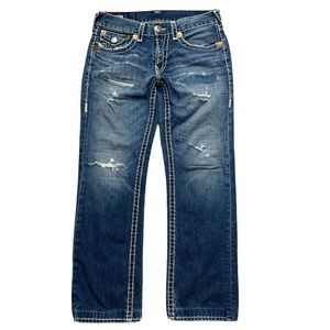 True Religion Sz 33x31 Ricky Super T Blue Jeans